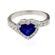 Zaffiro e diamanti